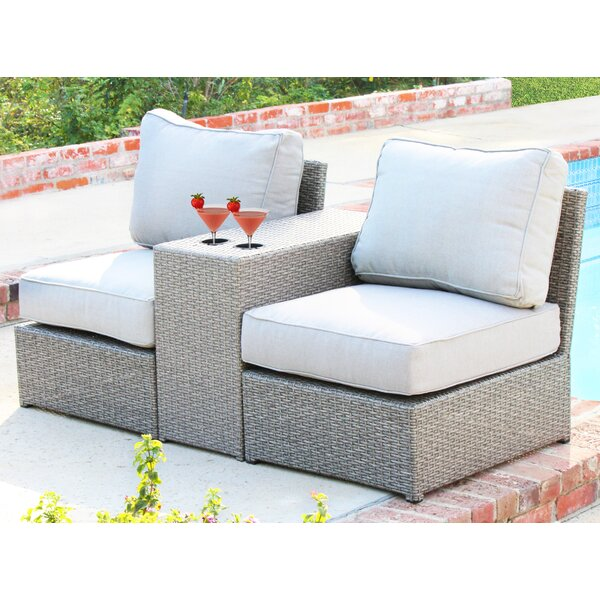 Simmerman 3 Piece Rattan Seating Group with Cushions by Brayden Studio