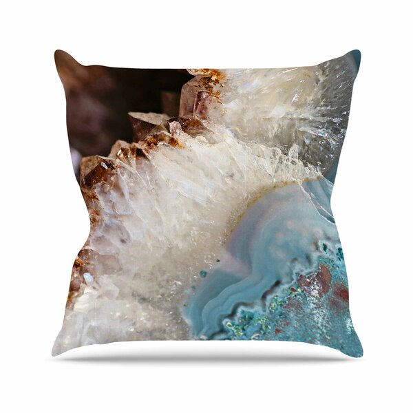 Sylvia Cook Quartz Waves Outdoor Throw Pillow by East Urban Home