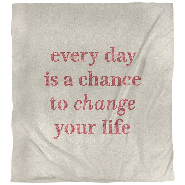 Quotes Handwritten Change Your Life Single Reversible Duvet Cover