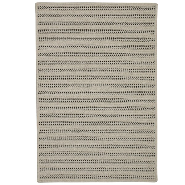 Tidewater Striped Hand-Woven Natural Area Rug by Rosecliff Heights