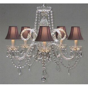 Reviews Meredith 5-Light Shaded Chandelier By House of Hampton