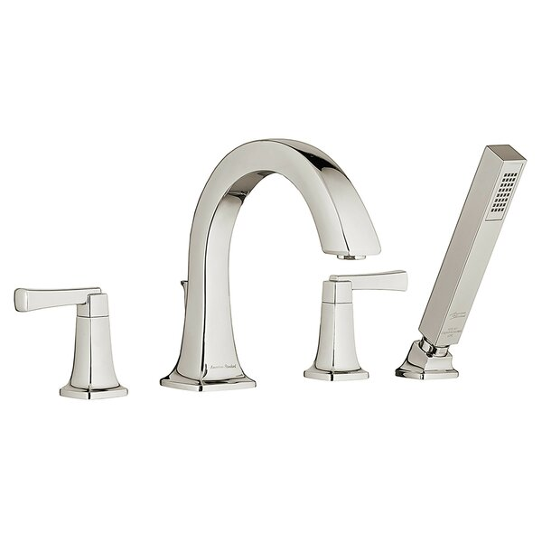 Townsend Double Handle Deck Mounted Roman Tub Faucet Trim with Diverter and Handshower by American Standard American Standard