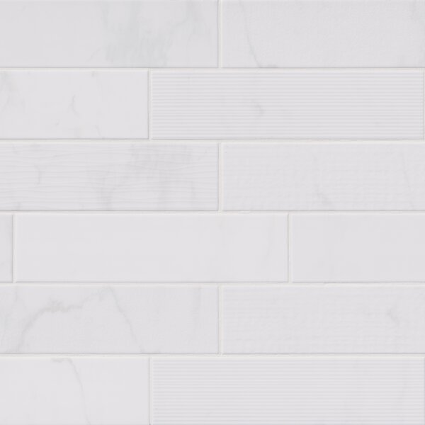 Classique Mix 4 x 16 Ceramic Field Tile in White by MSI