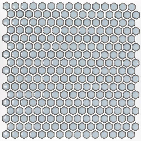 Bliss 0.6 x 0.6 Ceramic Mosaic Tile in Gray