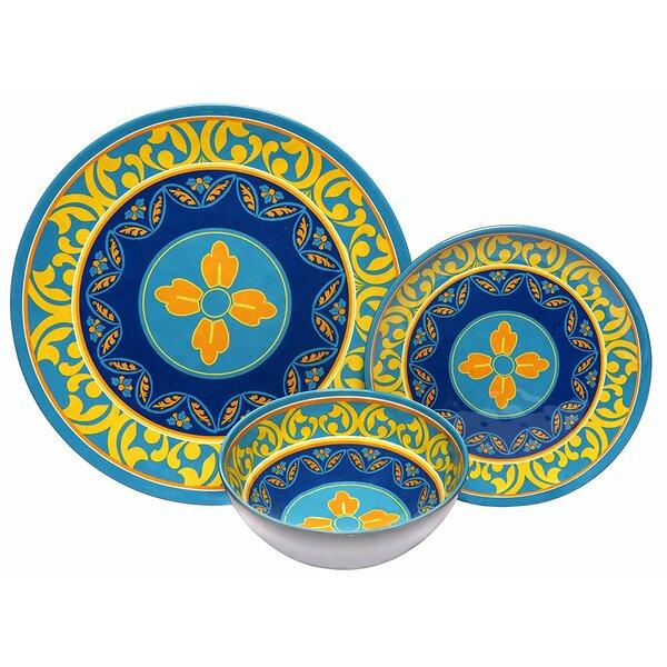 Malais Melamine 12 Piece Dinnerware Set by Bloomsbury Market