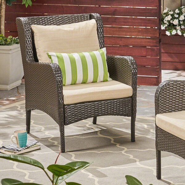Kennelly Patio Chair with Cushions (Set of 2) by Gracie Oaks