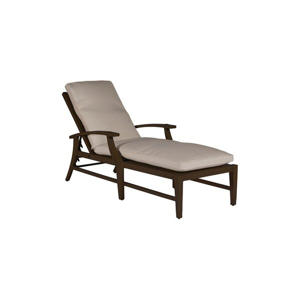 Croquet Reclining Chaise Lounge with Cushion by Summer Classics