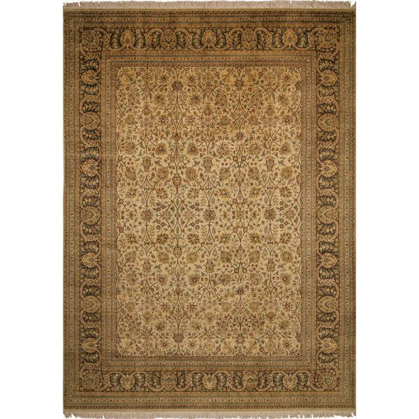 One-of-a-Kind Abarca Hand Knotted Wool Beige Area Rug by Isabelline