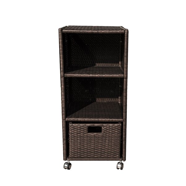 Wheeled Wicker Towel Valet by Island Retreat Island Retreat