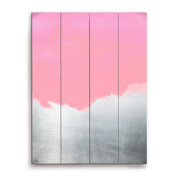 Abstract Painting Print Plaque in Pink by Click Wall Art
