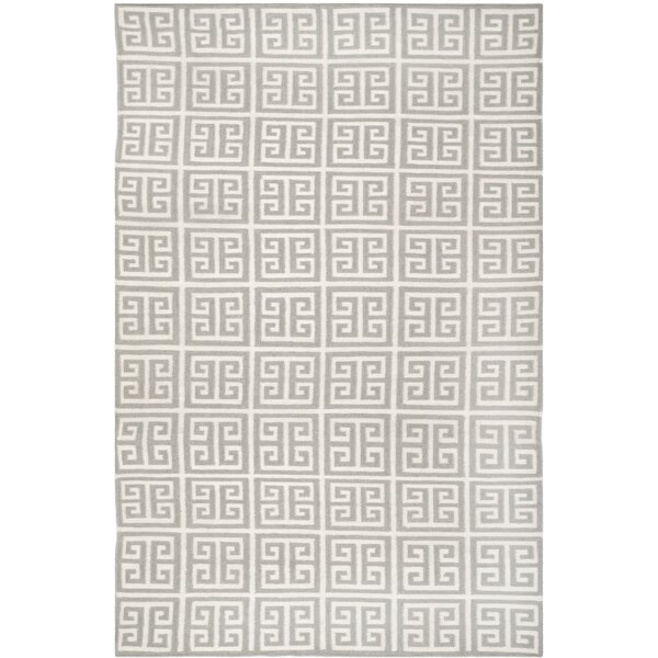 Dhurries Handmade Wool Gray/Ivory Area Rug by Safavieh