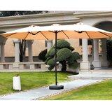 Eisele 9' W x 15' D Rectangular Market Umbrella byBreakwater Bay