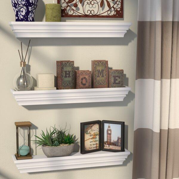 Contoured Floating Shelf (Set of 3) by Alcott Hill