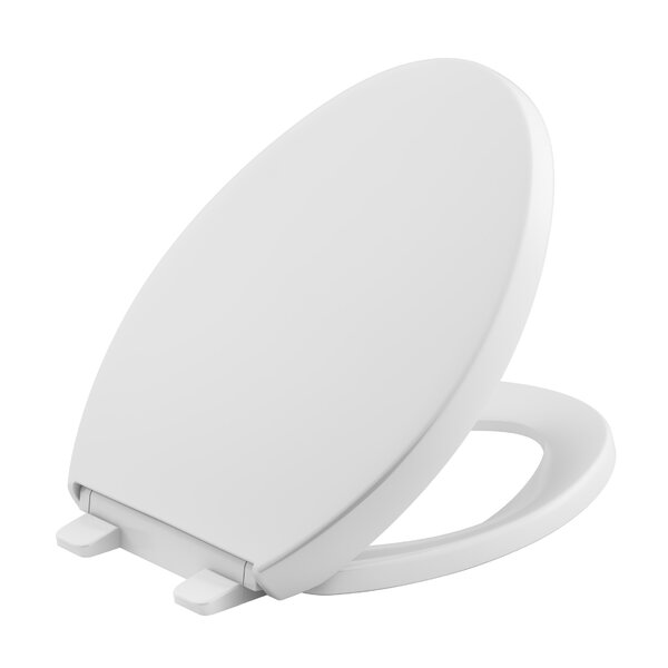 Reveal Quiet-Close With Grip-Tight Elongated Toilet Seat By Kohler.