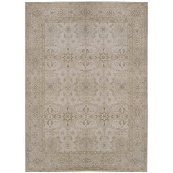 One-of-a-Kind Hand-Knotted Ivory 8'11 x 12'4 Area Rug