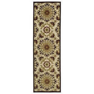 Mumtaz Machine Woven Khaki/Brown Indoor/Outdoor Area Rug By World Menagerie