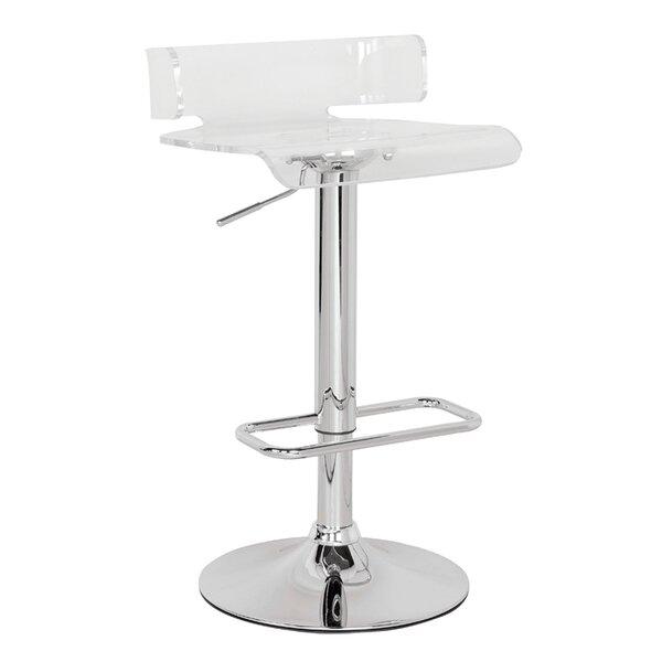 Flesher Adjustable Height Swivel Bar Stool by Orren Ellis