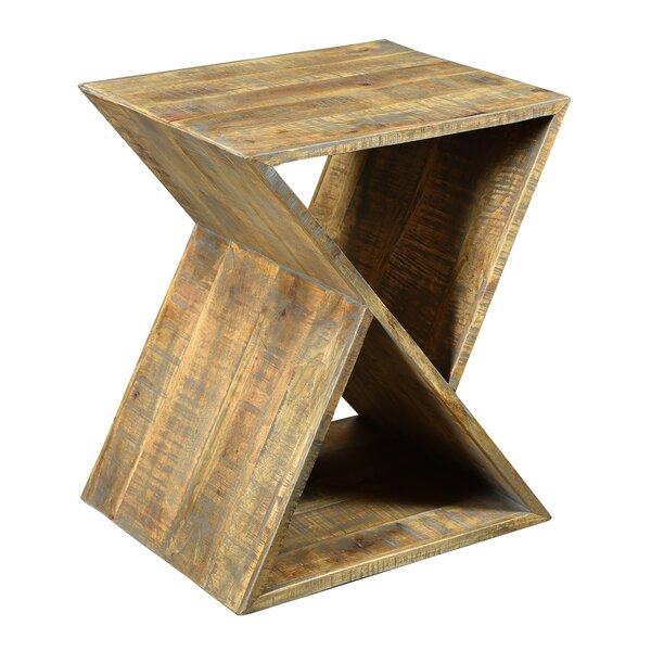 Alessandro Mango Wood Angled End Table by Brayden Studio