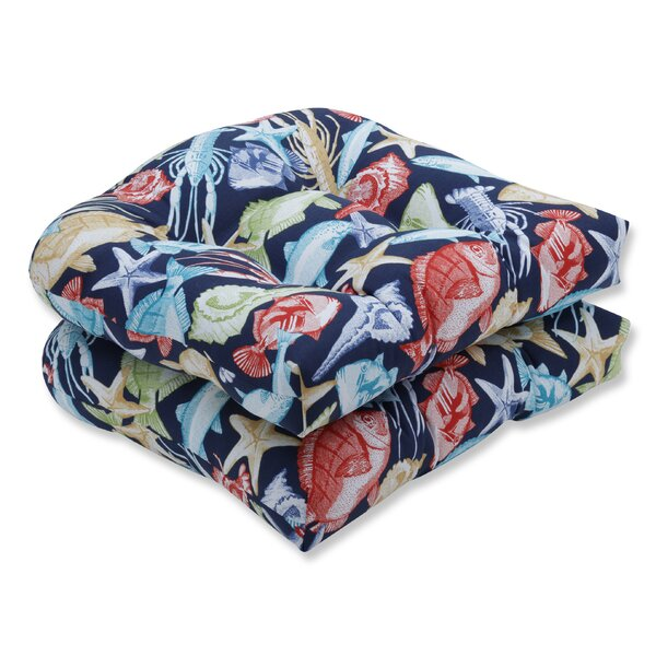 Keyisle Regata Indoor/Outdoor Chair Seat Cushion (Set of 2) by Pillow Perfect