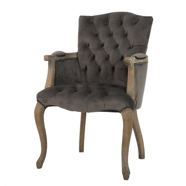 Barletta Velvet Arm Dining Chair by Willa Arlo Interiors