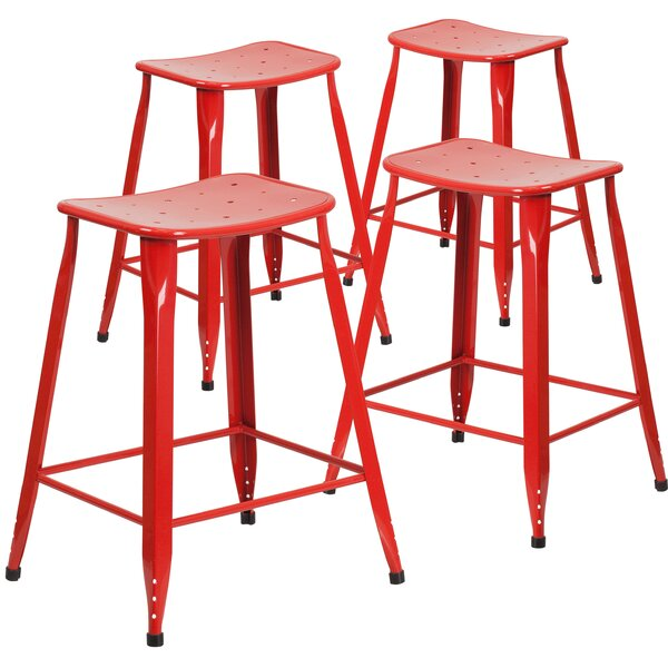 Braunstein 23.75 Patio Bar Stool (Set of 4) by Ebern Designs| @ $239.45