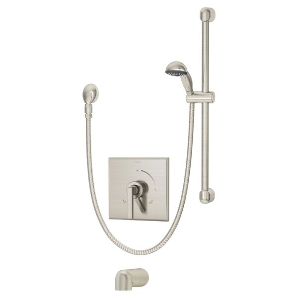 Duro Pressure Balance Tub and Hand Shower System with Lever Handle by Symmons