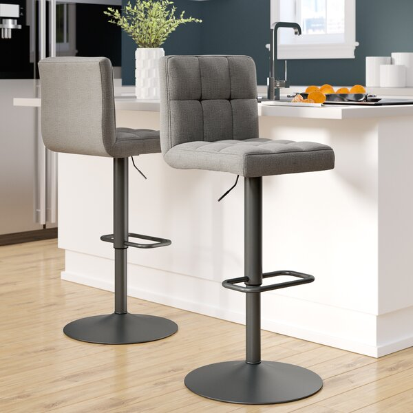 Glen Adjustable Height Swivel Bar Stool (Set of 2) by Ebern Designs