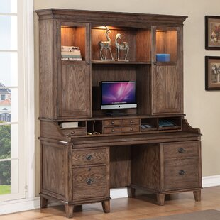 Check Prices Harrison Flats Executive Desk with Hutch ByFairfax Home Collections