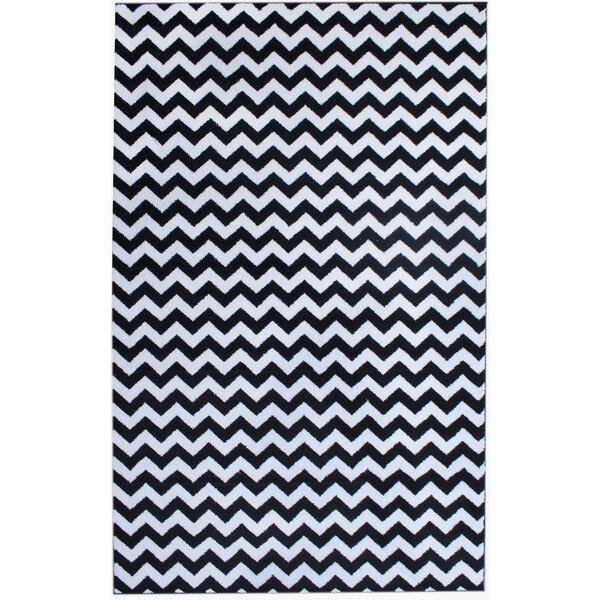 Merissa Black Area Rug by Ebern Designs