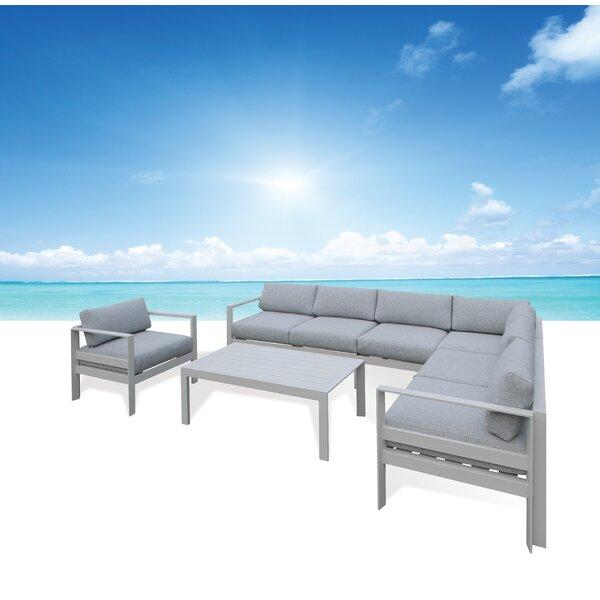 Houston Deep Seating Group with Sunbrella Cushions by Orren Ellis