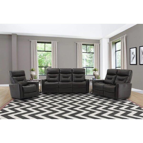 Vanaheim Leather Reclining Configurable Living Room Set By Latitude Run