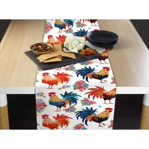 Leaver Rise and Shine Roosters Milliken Signature Table Runner by August Grove