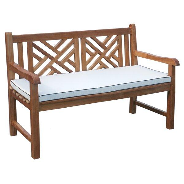 Amdt Teak Garden Bench with Cushion by Red Barrel Studio