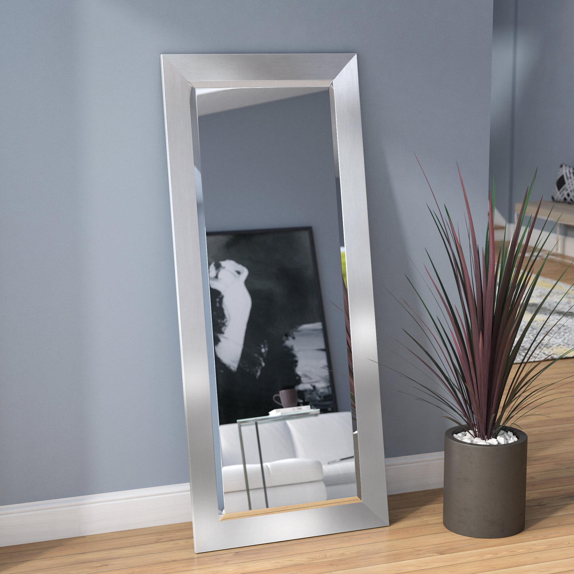 Wrought Studio Bahamas Silver Modern And Contemporary Beveled Wall Mirror Reviews Wayfair