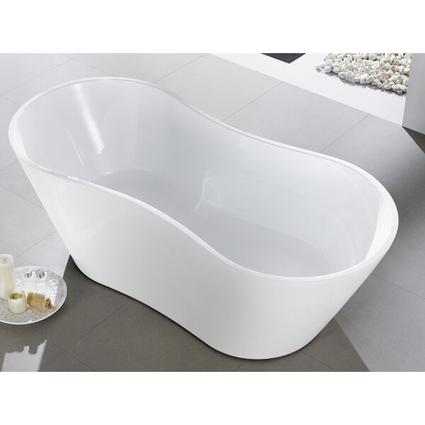 Smile 66 x 30'' Freestanding Soaking Bathtub by Eviva