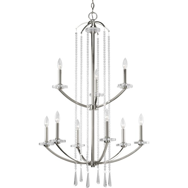 Renee 9-Light Candle Style Tiered Chandelier By Rosdorf Park