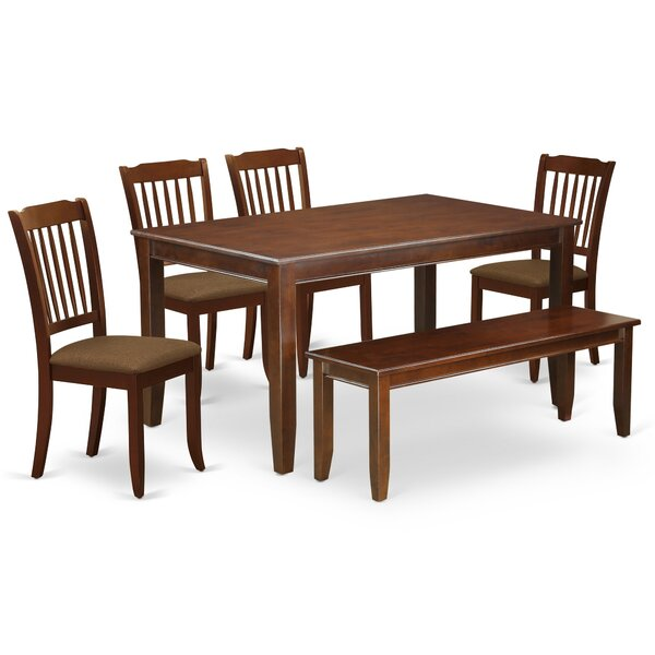 Windon 6 Piece Solid Wood Dining Set by Winston Porter Winston Porter