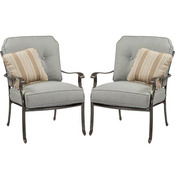 Pinheiro Patio Chair with Sunbrella Cushion (Set of 2) by Canora Grey