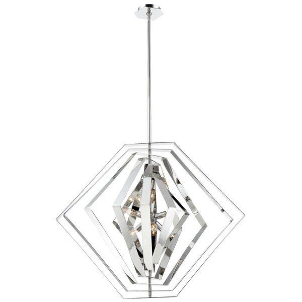 Lenna 6-Light Unique / Statement Geometric Chandelier By Orren Ellis