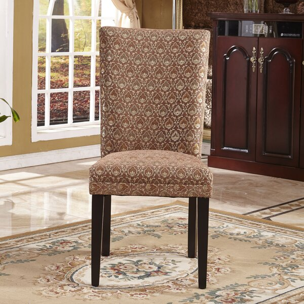 Elegant Damask Parsons Chair (Set of 2) by Bellasario Collection