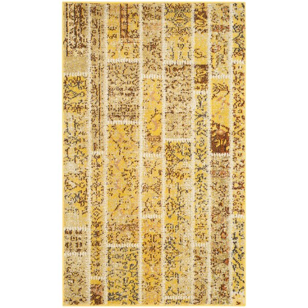 Yellow Area Rug by Bungalow Rose