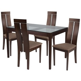 Marcella 5 Piece Dining Set by Ebern Designs