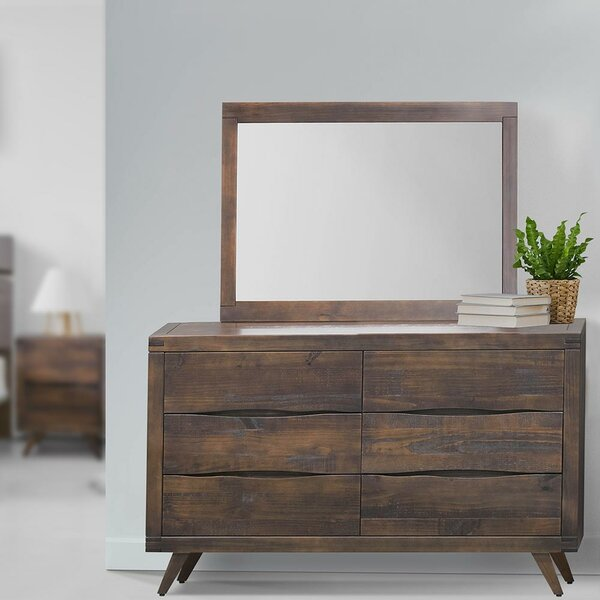 Comfrey 6 Drawer Double Dresser by Foundry Select