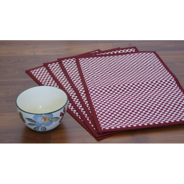 Vaayil Handmade Talipot Checkered Placemat (Set of 4) by Leaf & Fiber