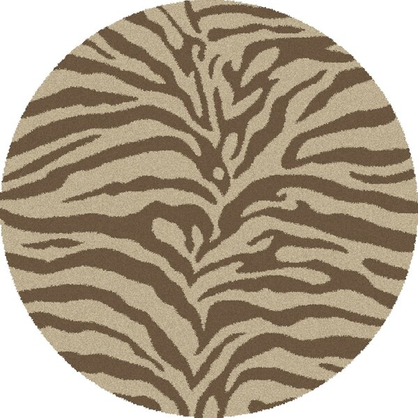 Shaggy Zebra Brown & Tan Area Rug by Threadbind