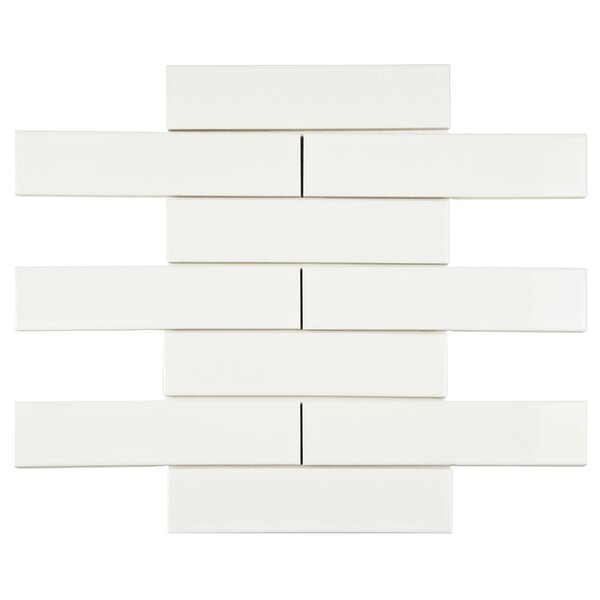 Retro 2 x 8 Porcelain Field Tile in Glossy White by EliteTile