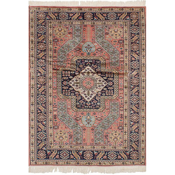 One-of-a-Kind Dodds Hand-Knotted Wool Copper Area Rug by Isabelline