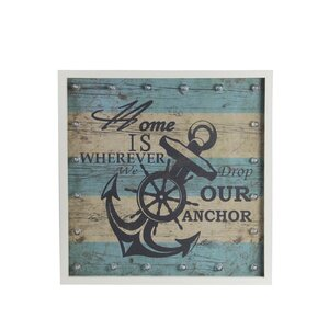 Anchor Framed Graphic Art by Privilege