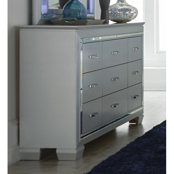 Swanage Wooden 9 Drawer Chest by Everly Quinn