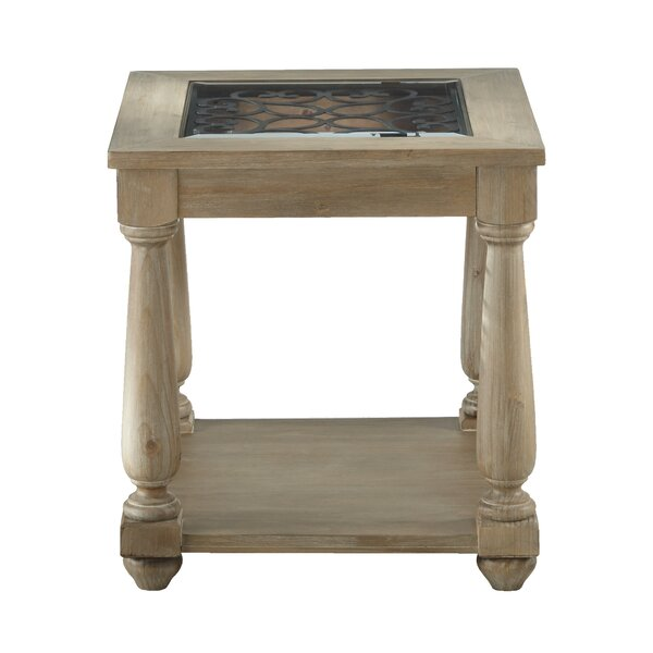 Basco End Table by Fleur De Lis Living